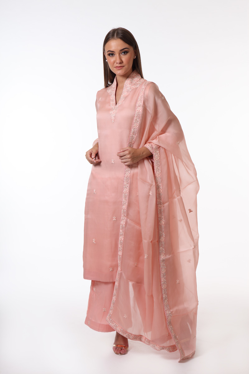peach-pink-pure-silk-organza-suit-set