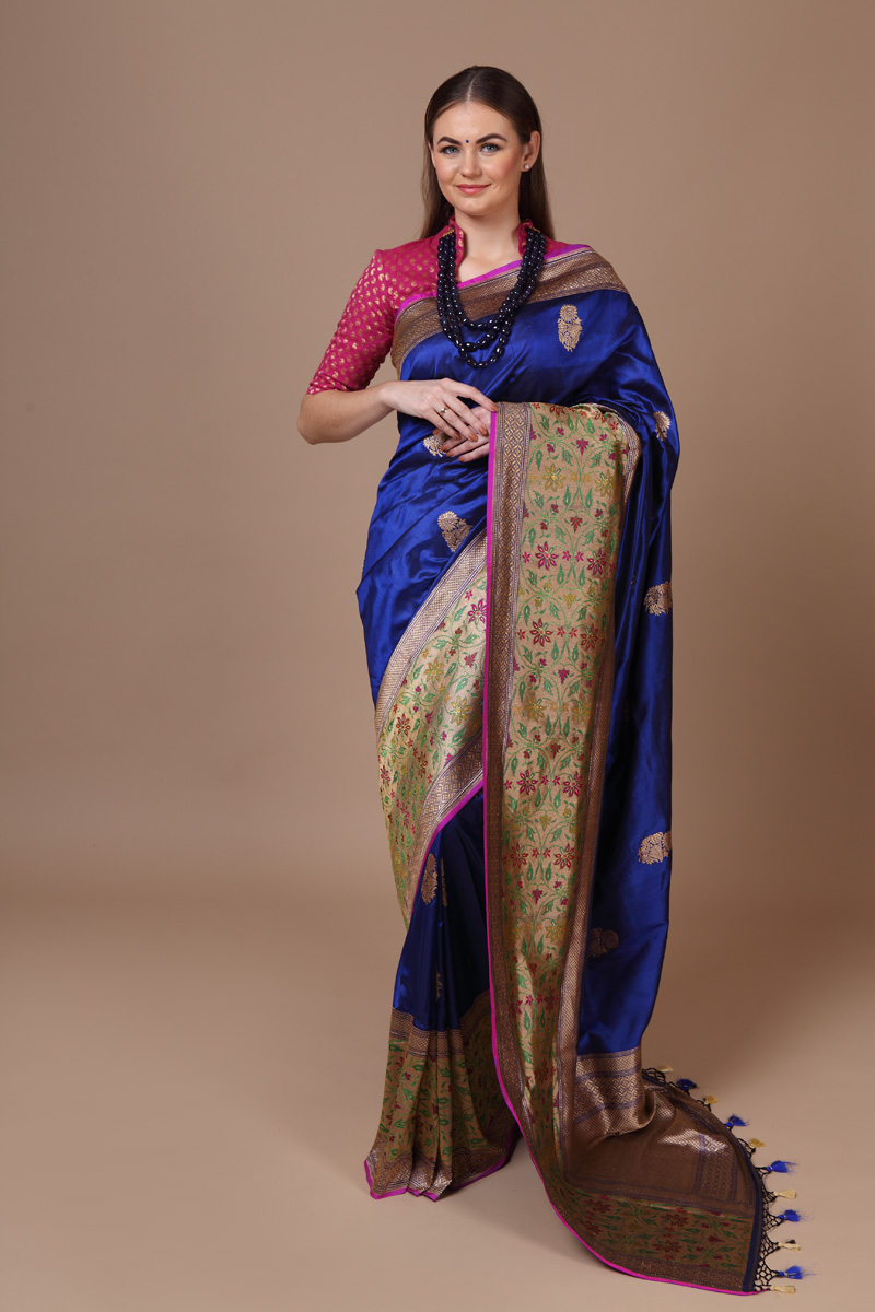 pure-hand-woven-benarasi-royal-blue-katan-silk-saree-with-kadhwa-butis