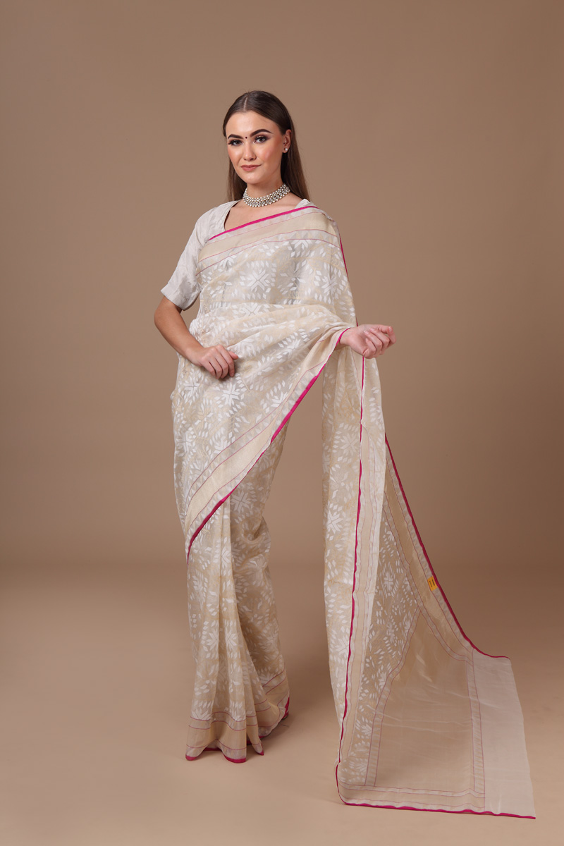 pure-hand-woven-benarasi-off-white-real-zari-kora-silk-jamdani-saree