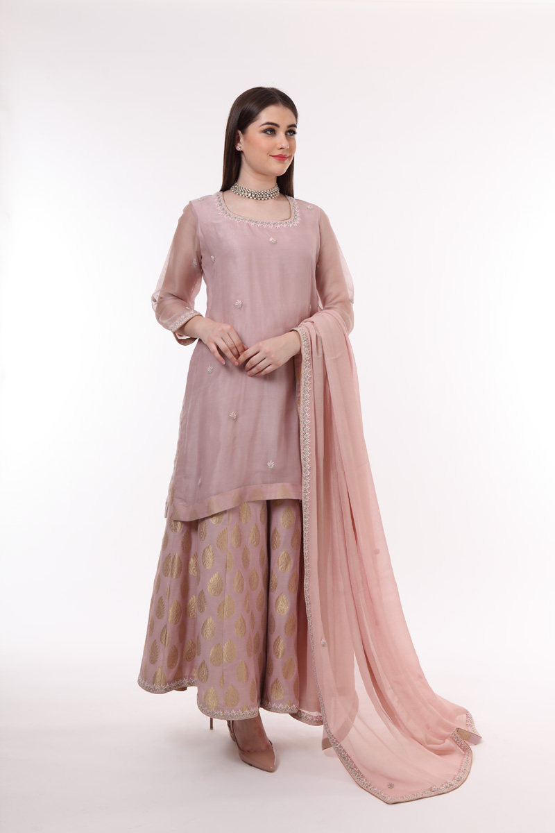 pure-hand-woven-chanderi-katan-silk-kurta-with-benarasi-sharara-suit-set