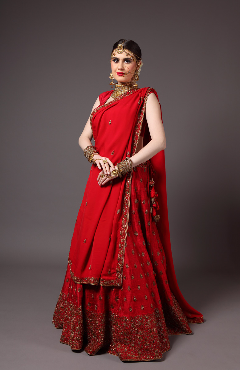 pure-hand-woven-raw-silk-red-lehnga-blouse-with-pure-crepe-georgette-dupatta