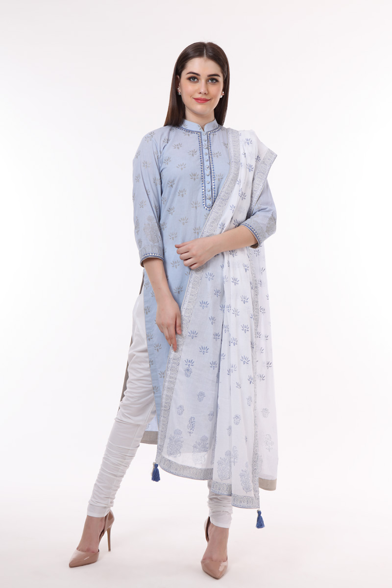 pure-hand-woven-light-blue-handblock-print-cotton-suit-set