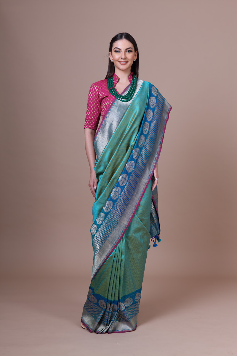 pure-hand-woven-benarasi-blue-green-silk-saree