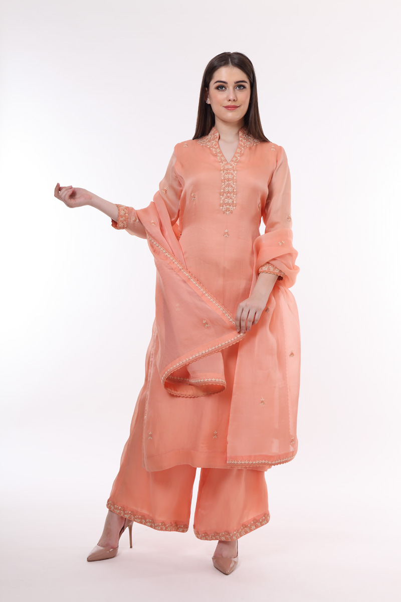 pure-silk-organza-peach-suit-set