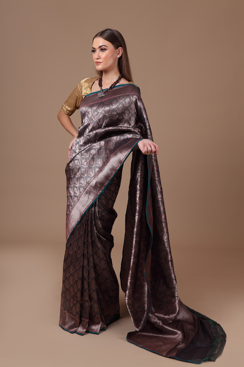 pure-hand-woven-benarasi-black-katan-silk-embossed-saree