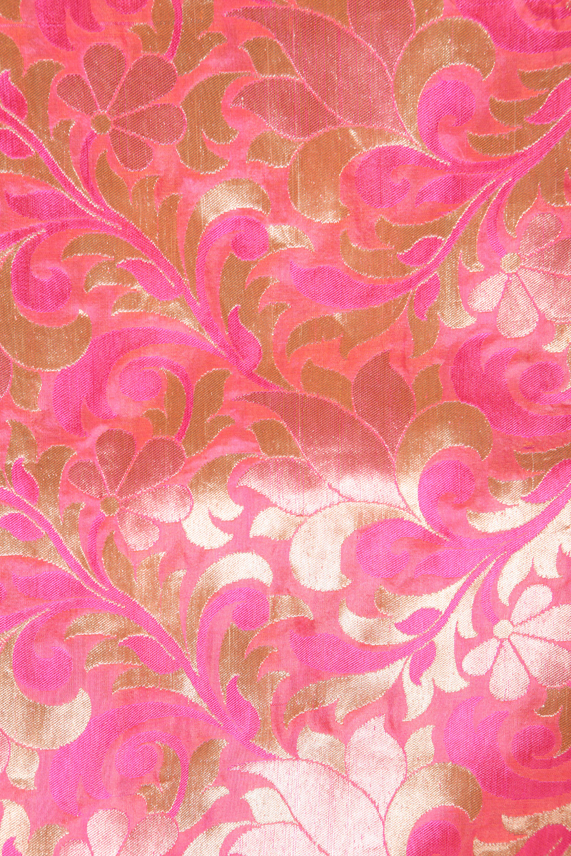 pure-hand-woven-pink-benarasi-brocade-silk-fabric-with-zari-jangla