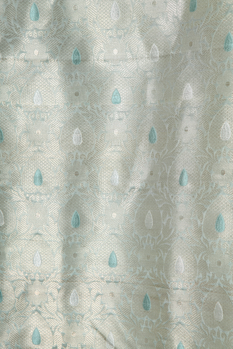 pure-hand-woven-sea-green-benarasi-kadhwa-meena-silk-fabric