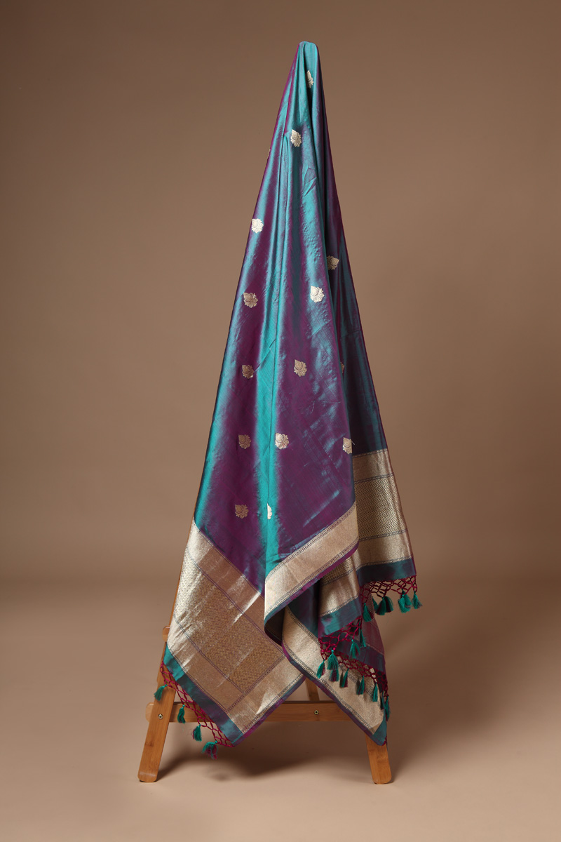 pure-hand-woven-benarasi-green-purple-katan-silk-dupatta