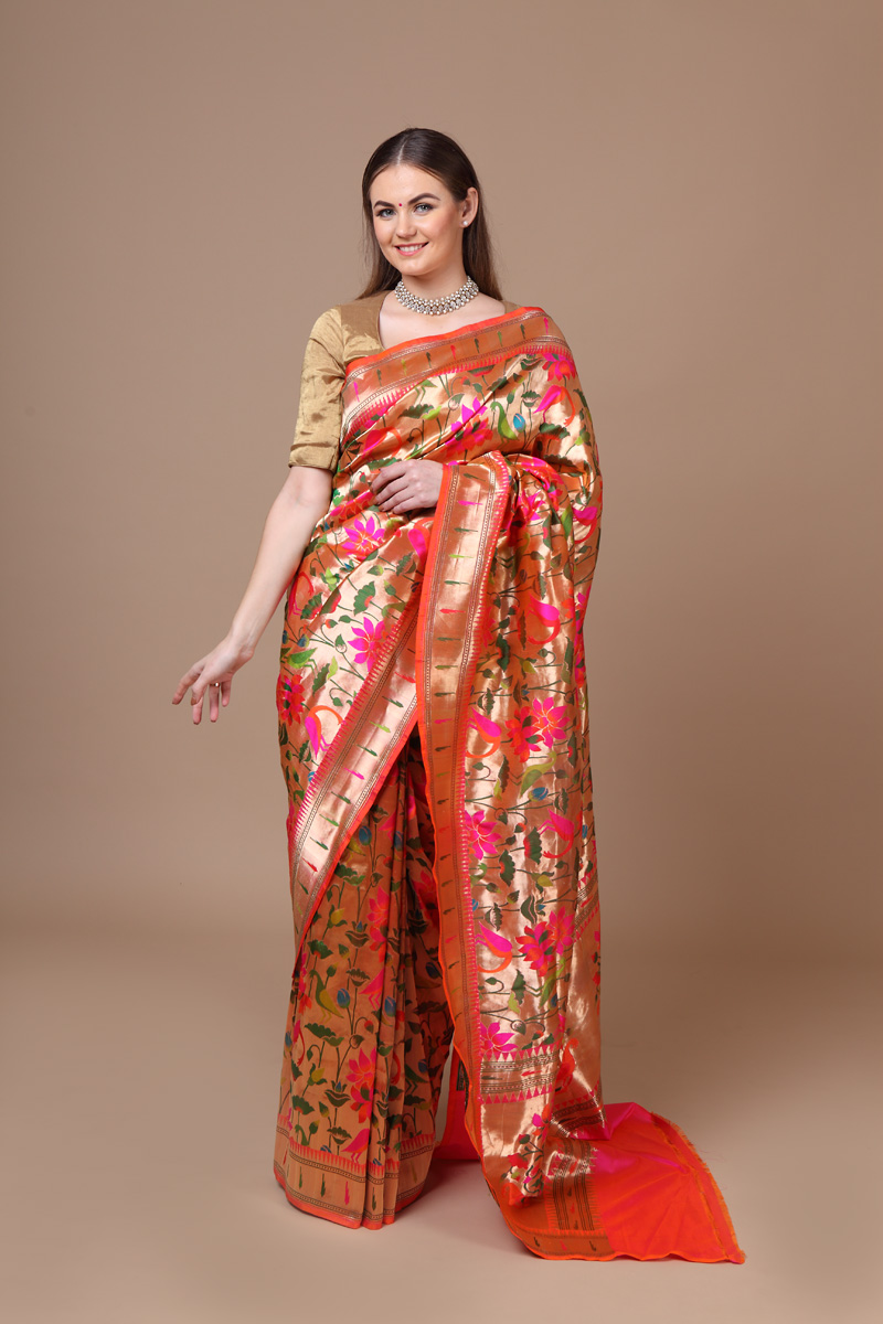 pure-hand-woven-benarasi-peach-pink-tissue-gold-katan-silk-saree-with-kadhwa-meena-jangla