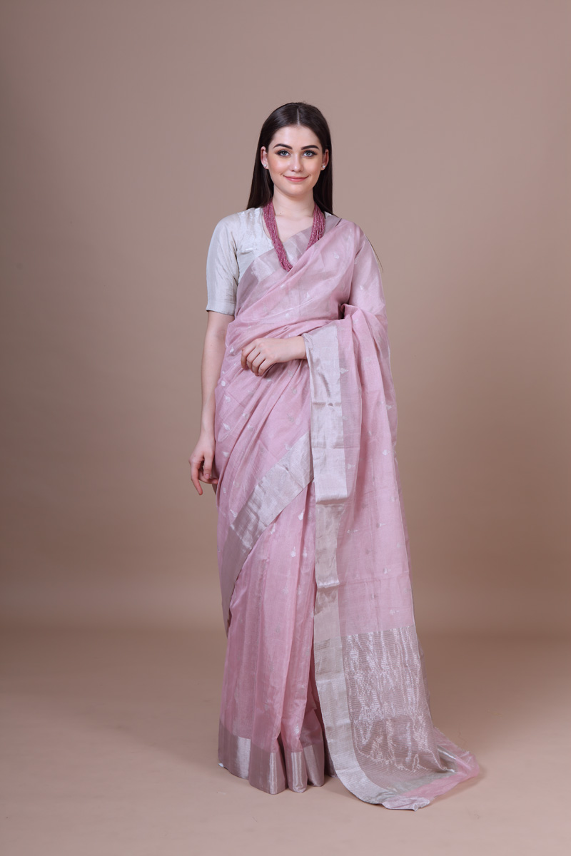 pure-hand-woven-chanderi-baby-pink-tissue-silk-saree-with-all-over-zari-butis
