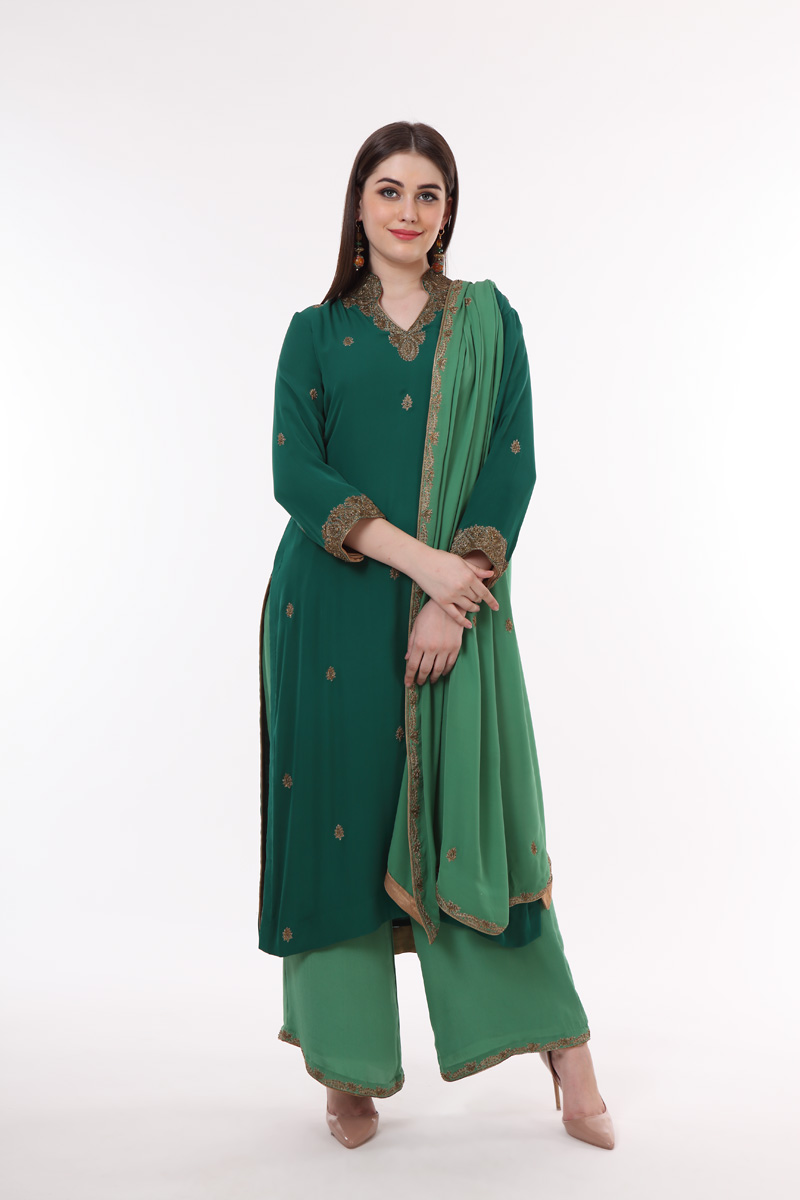 pure-crepe-georgette-green-suit-set-with-hand-embroidery