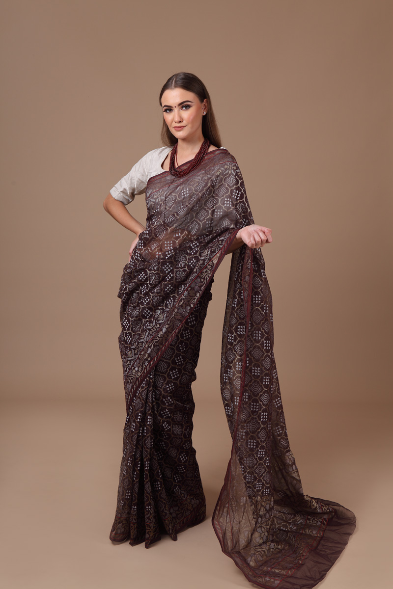 pure-hand-woven-benarasi-coffee-brown-real-zari-kora-silk-jamdani-saree