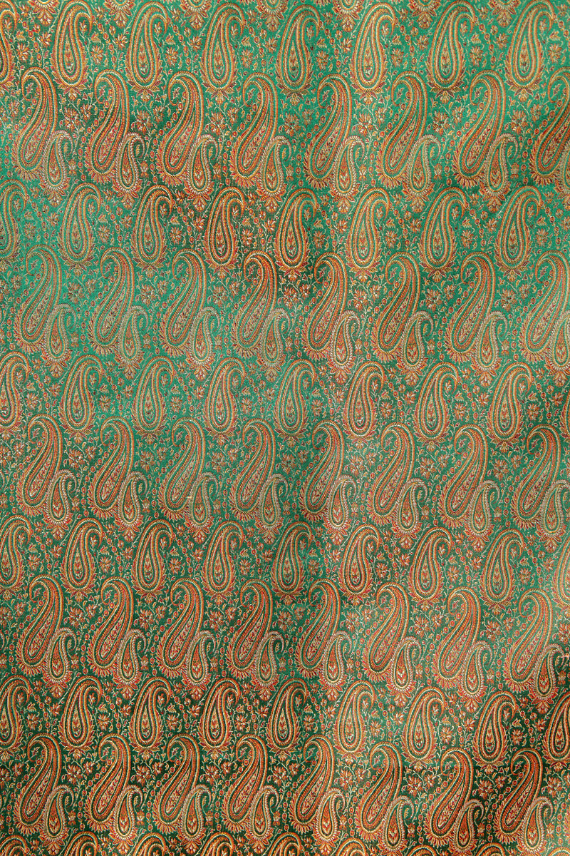 pure-hand-woven-green-double-tanchoi-benarasi-silk-fabric