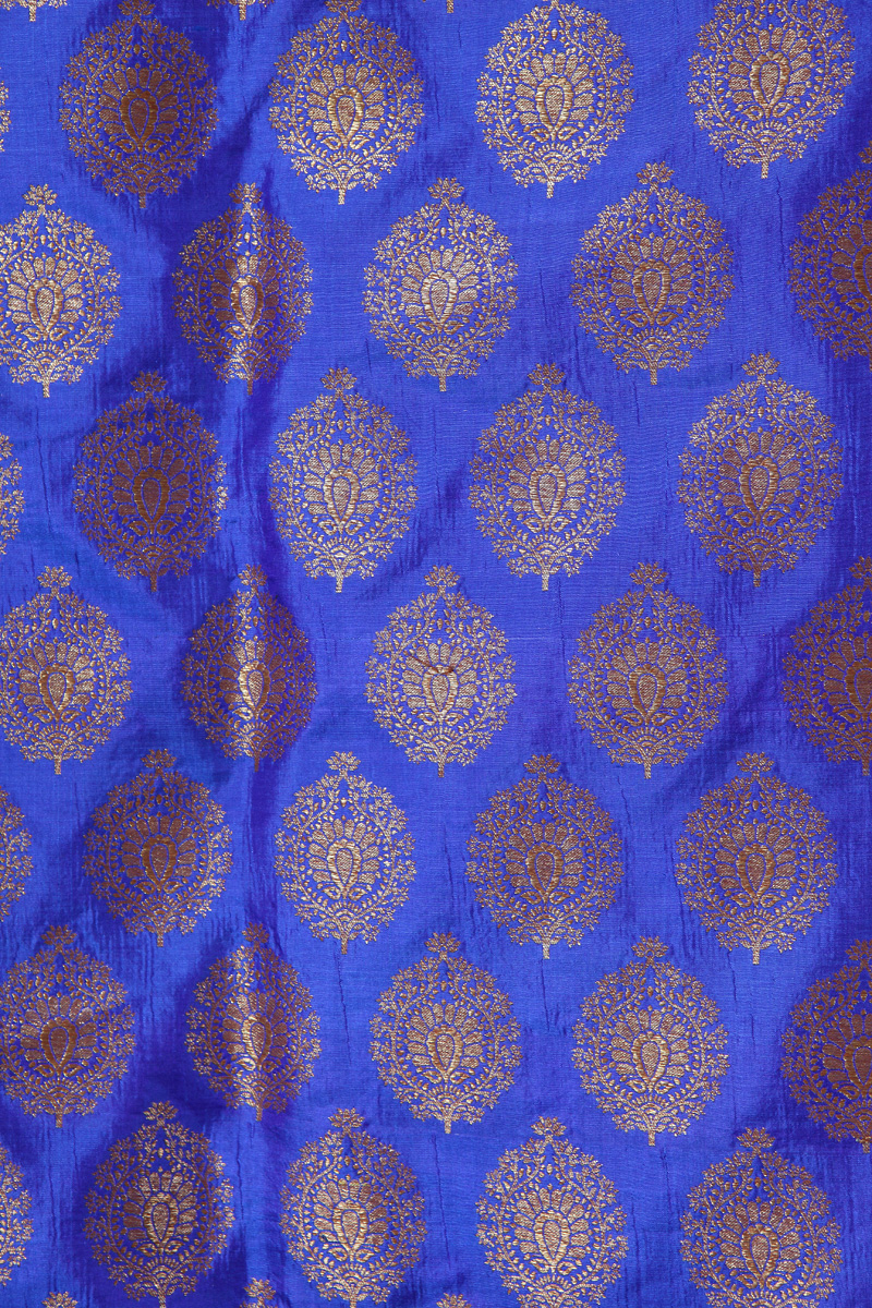 pure-hand-woven-royal-blue-benarasi-silk-fabric-with-butis