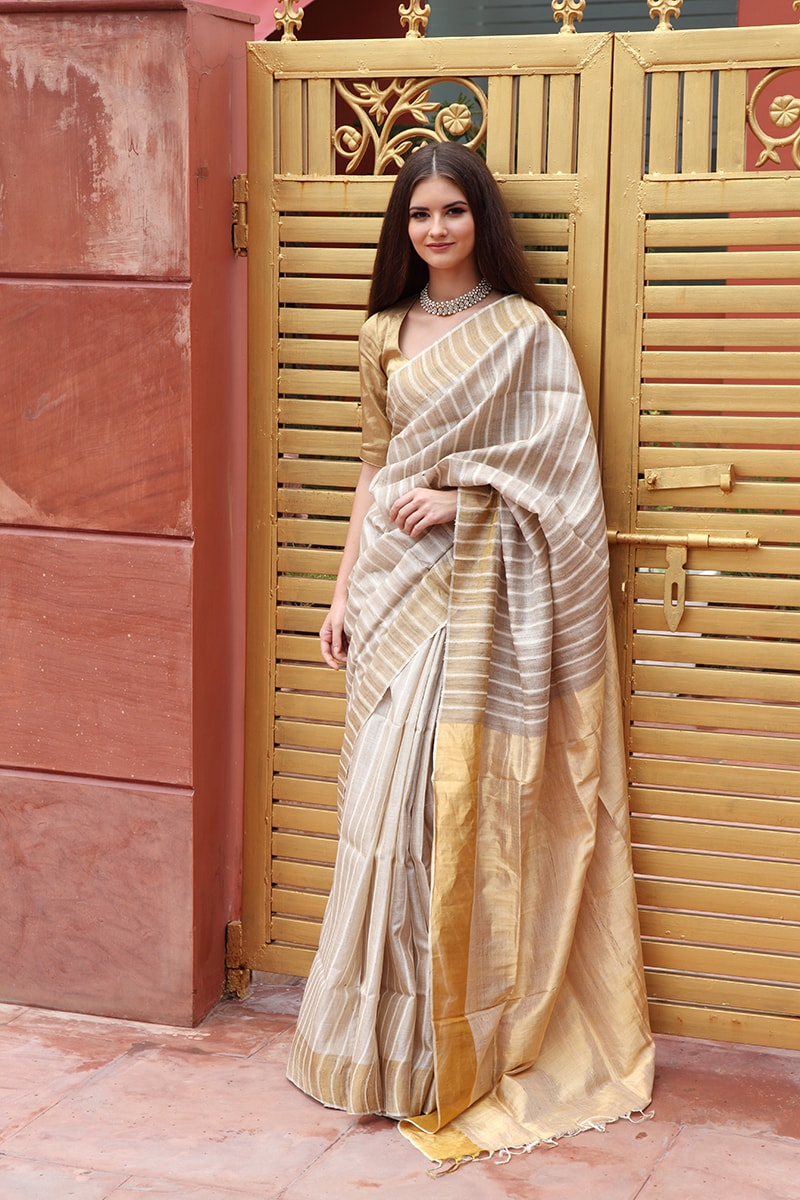 pure-hand-woven-bhagalpuri-silk-saree-with-stripes