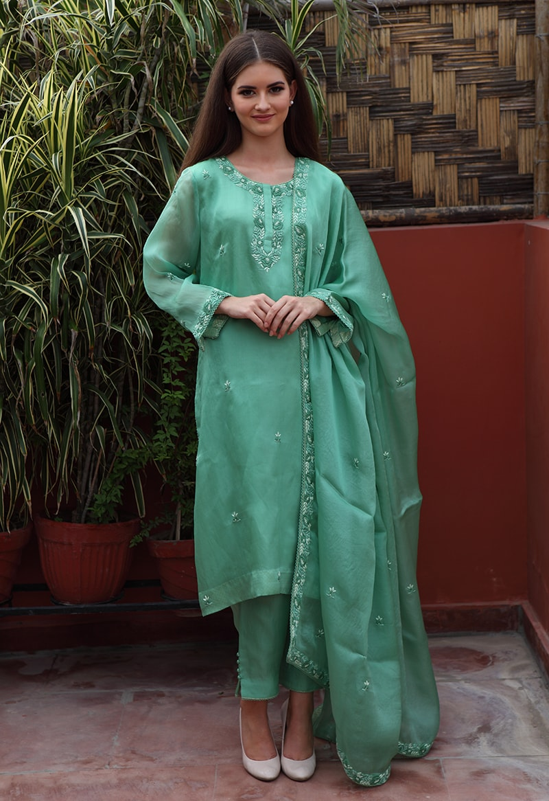 pure-silk-organza-green-suit-set