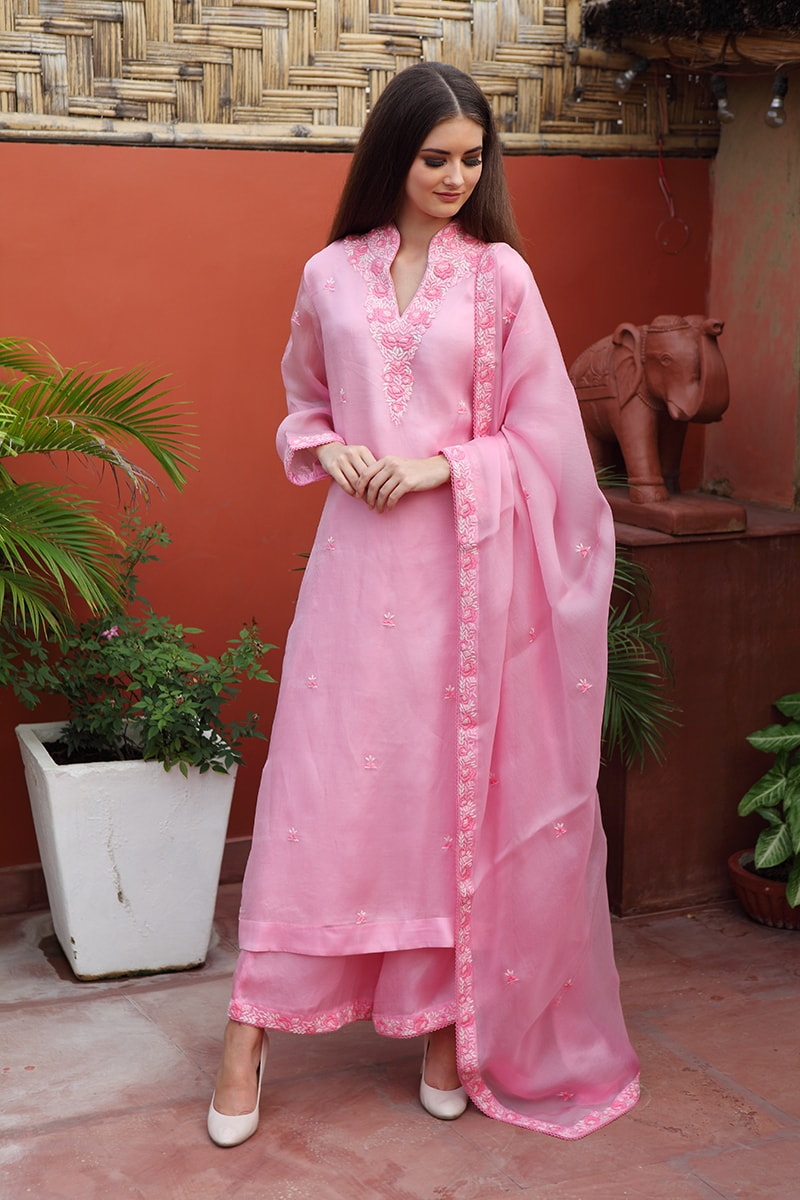 pure-silk-organza-pink-suit-set