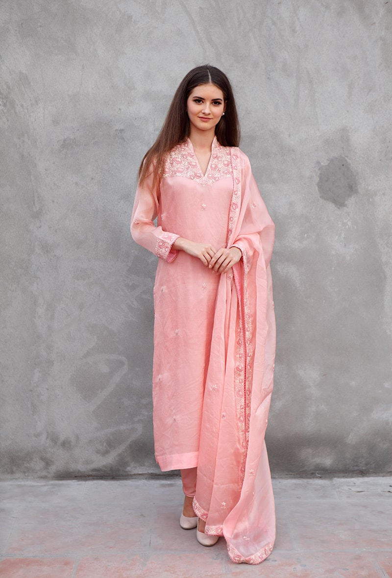 light-pink-pure-silk-organza-suit-set