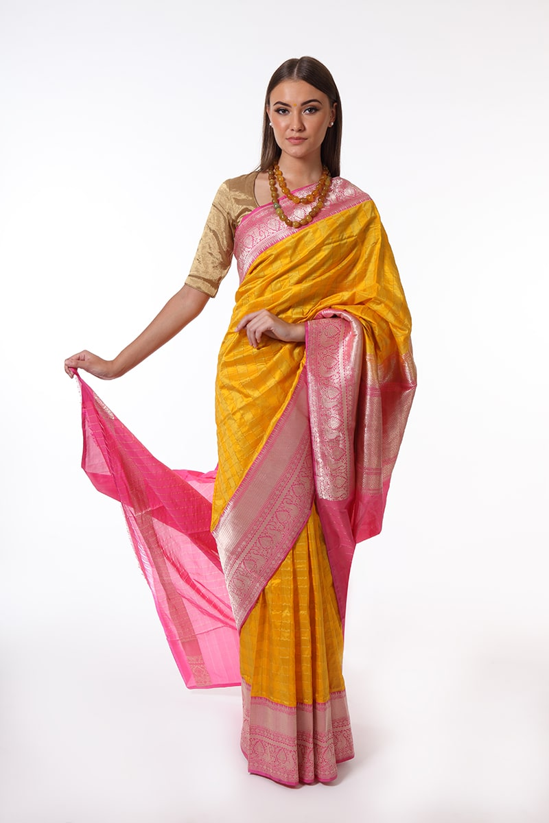 pure-hand-woven-yellow-pink-benarasi-katan-silk-saree