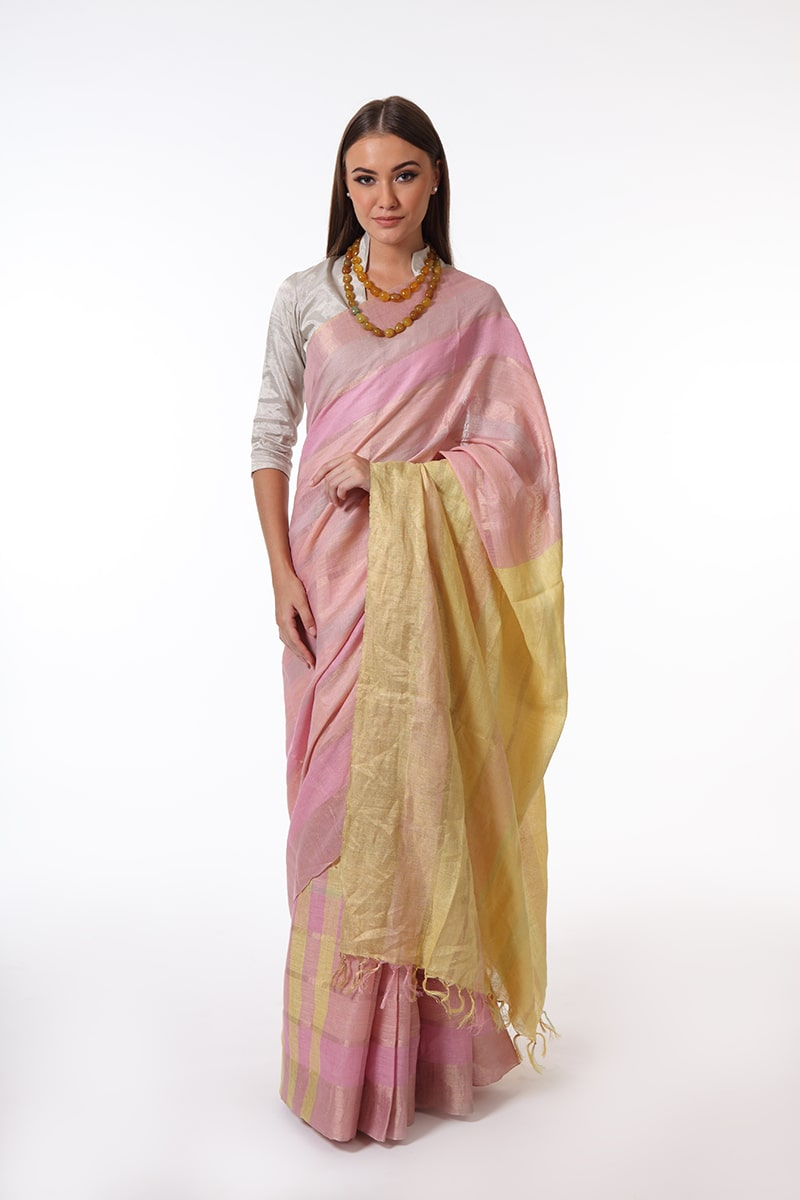 pure-hand-woven-bhagalpuri-multi-coloured-linen-eri-silk-saree