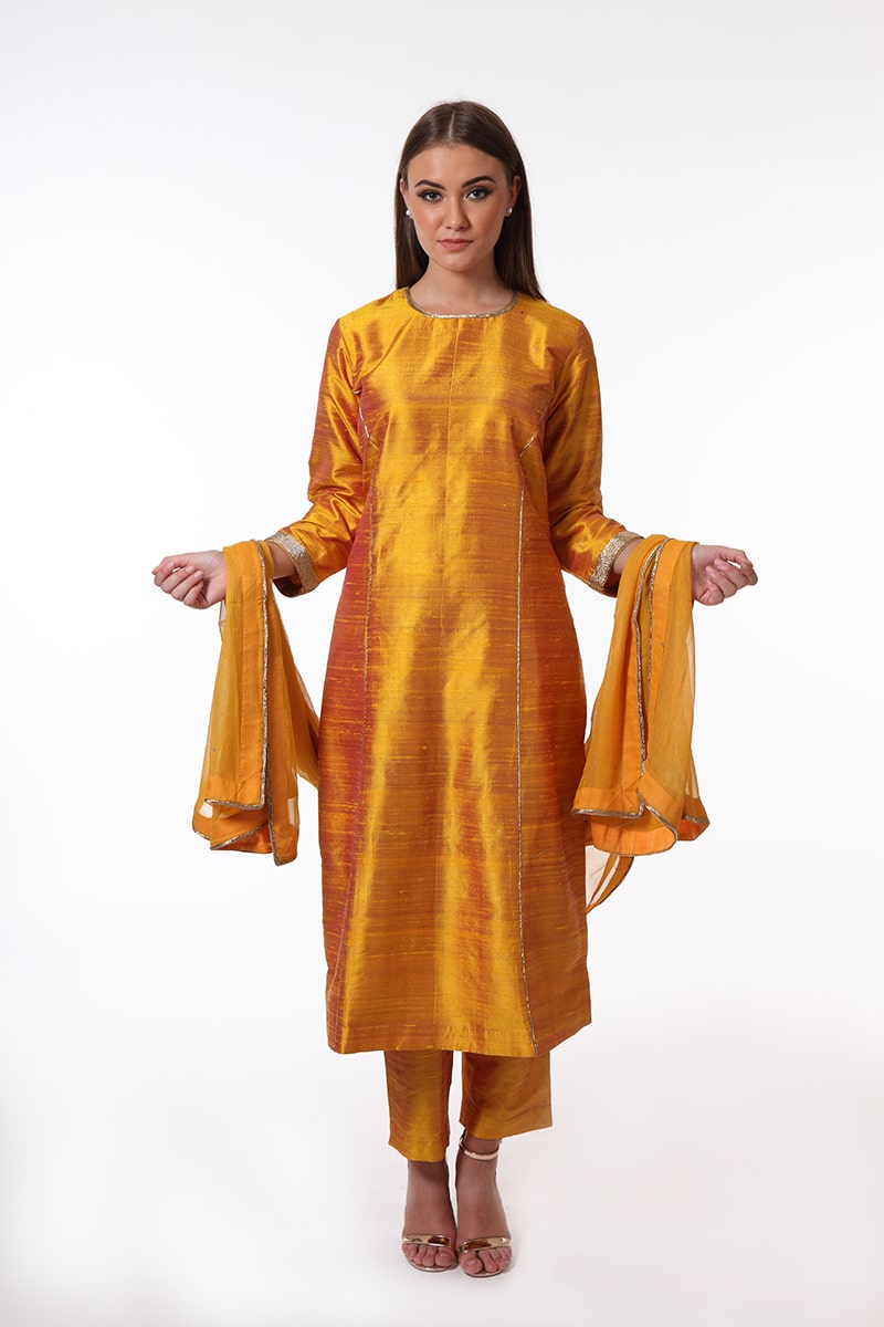 pure-hand-woven-mustard-yellow-raw-silk-suit-set