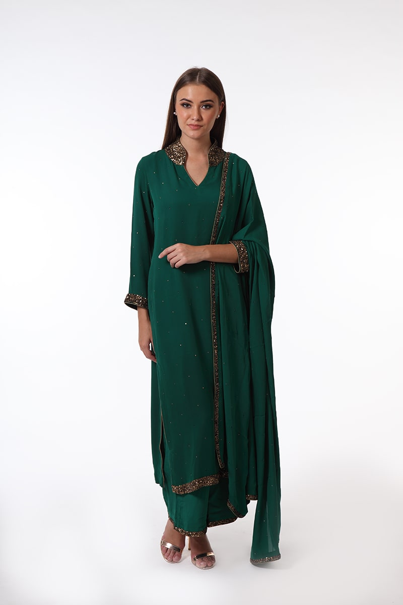 pure-cepe-georgette-dark-green-suit-set