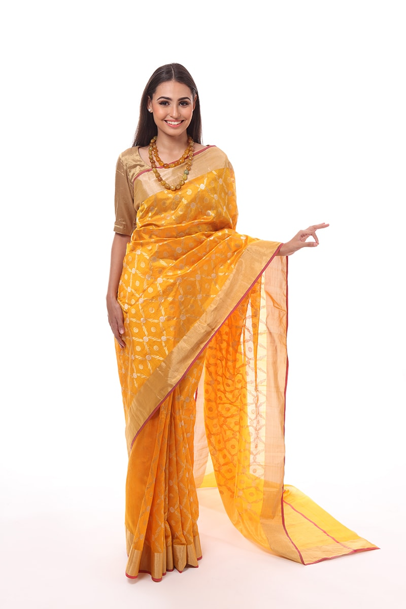 pure-hand-woven-chanderi-yellow-silk-jangla-saree