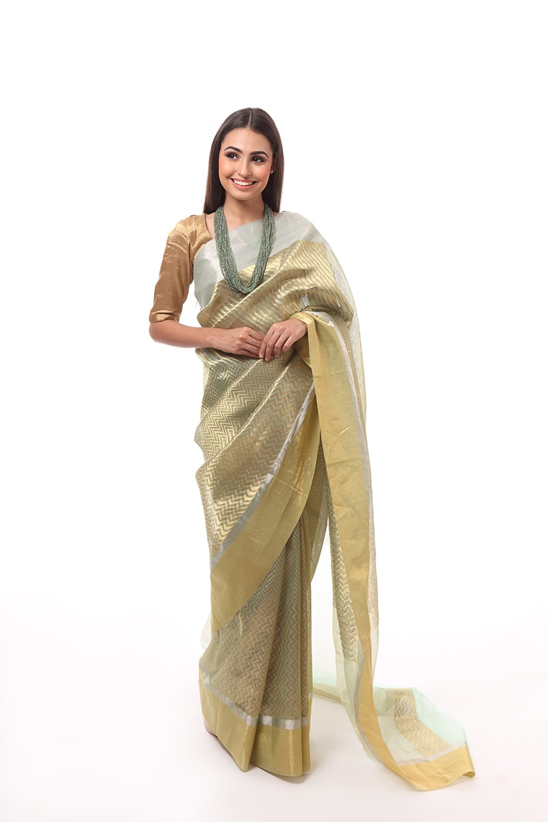 pure-hand-woven-chanderi-light-green-katan-silk-saree-with-different-stripes