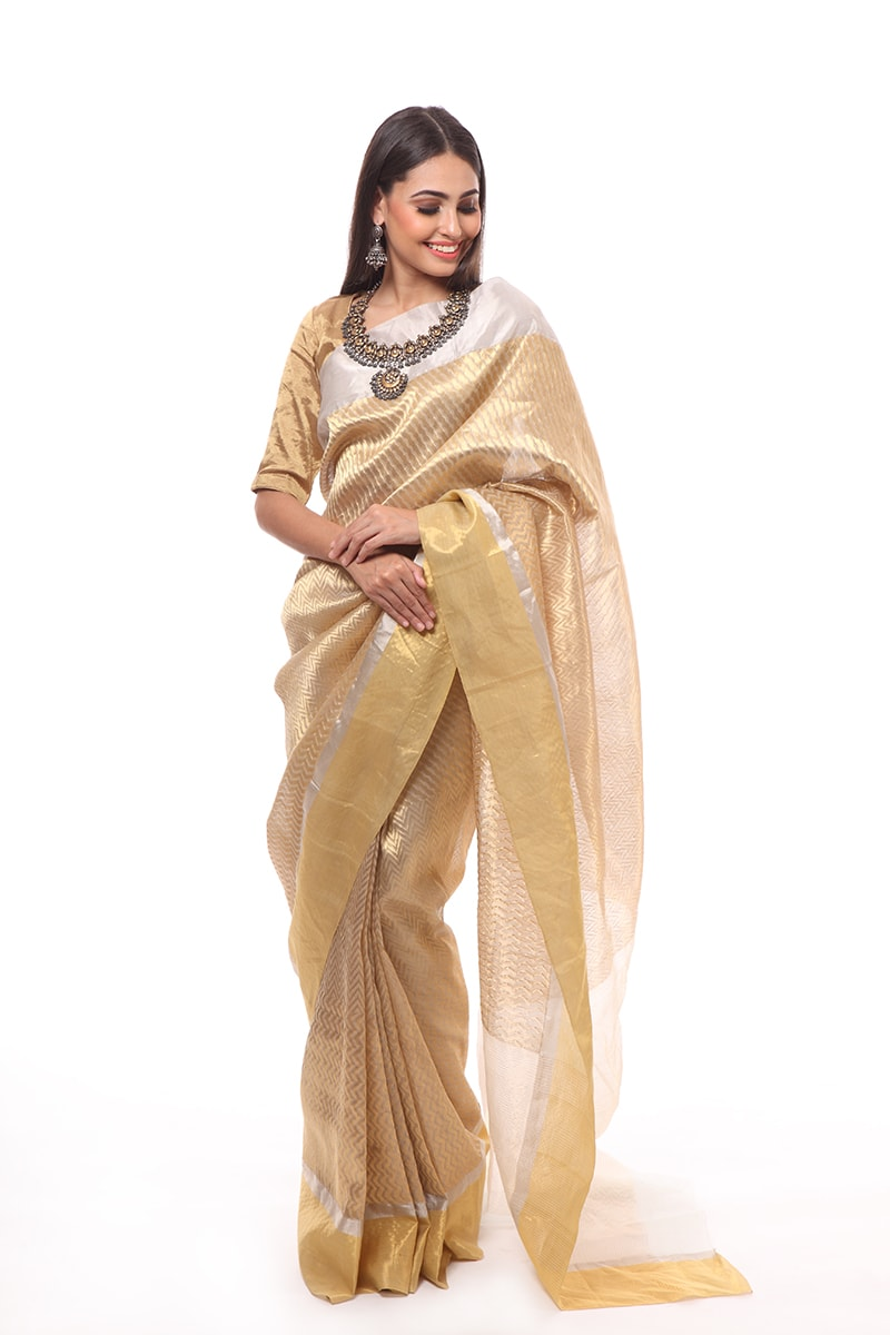 pure-hand-woven-grey-chanderi-katan-silk-saree-with-different-stripes