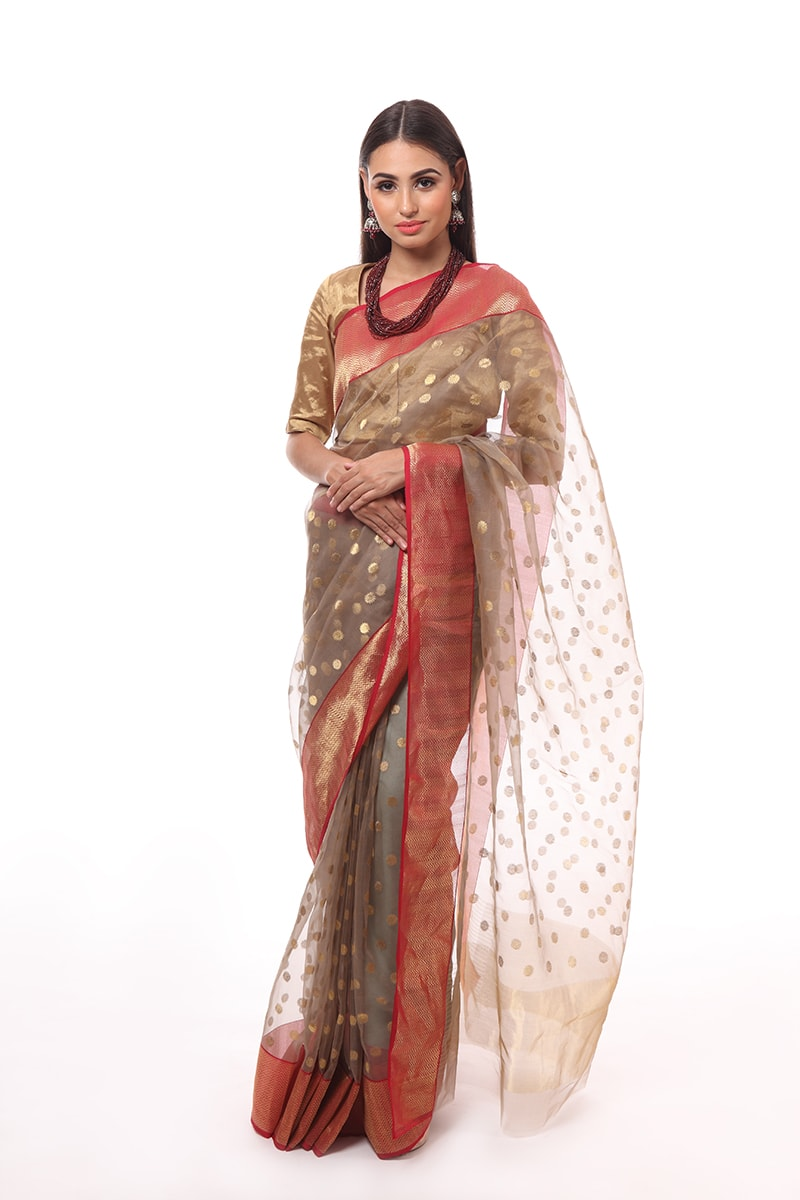 pure-hand-woven-grey-chanderi-katan-silk-saree-with-ghani-eknaliye-asharfi-butis