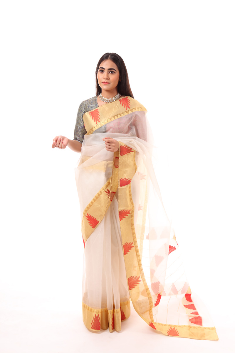 pure-hand-woven-white-chanderi-silk-temple-border-saree
