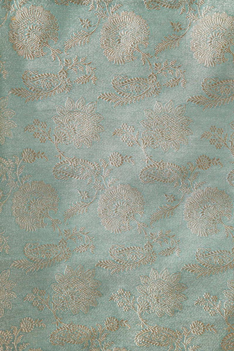 pure-hand-woven-sea-green-tissue-benarasi-silk-fabric