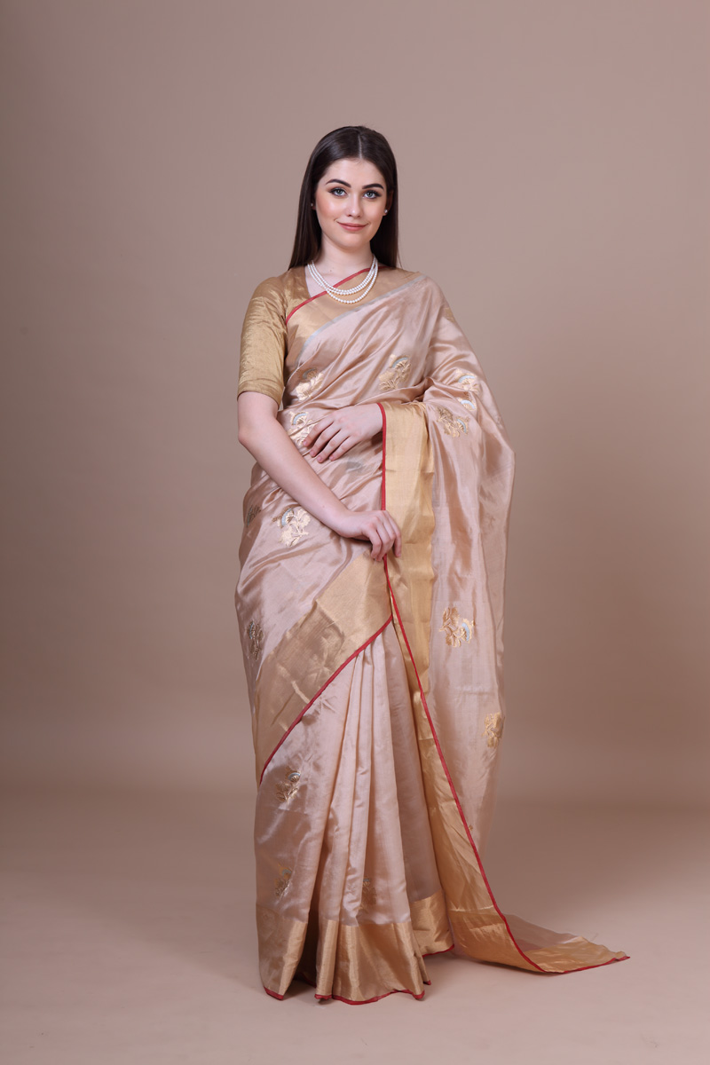 pure-hand-woven-chanderi-beige-pure-silk-saree-with-all-over-eknaliye-ghani-flower-butis