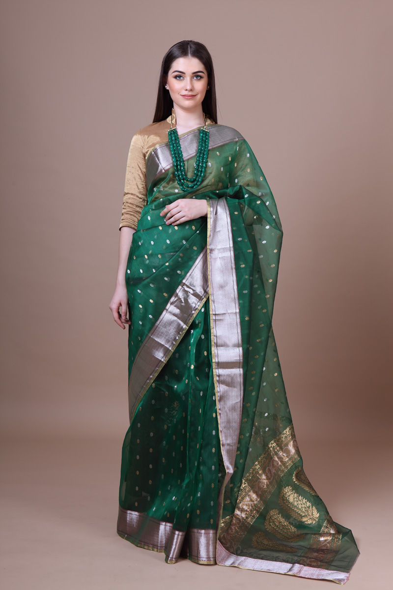 pure-hand-woven-green-chanderi-katan-silk-paithani-saree-with-butis