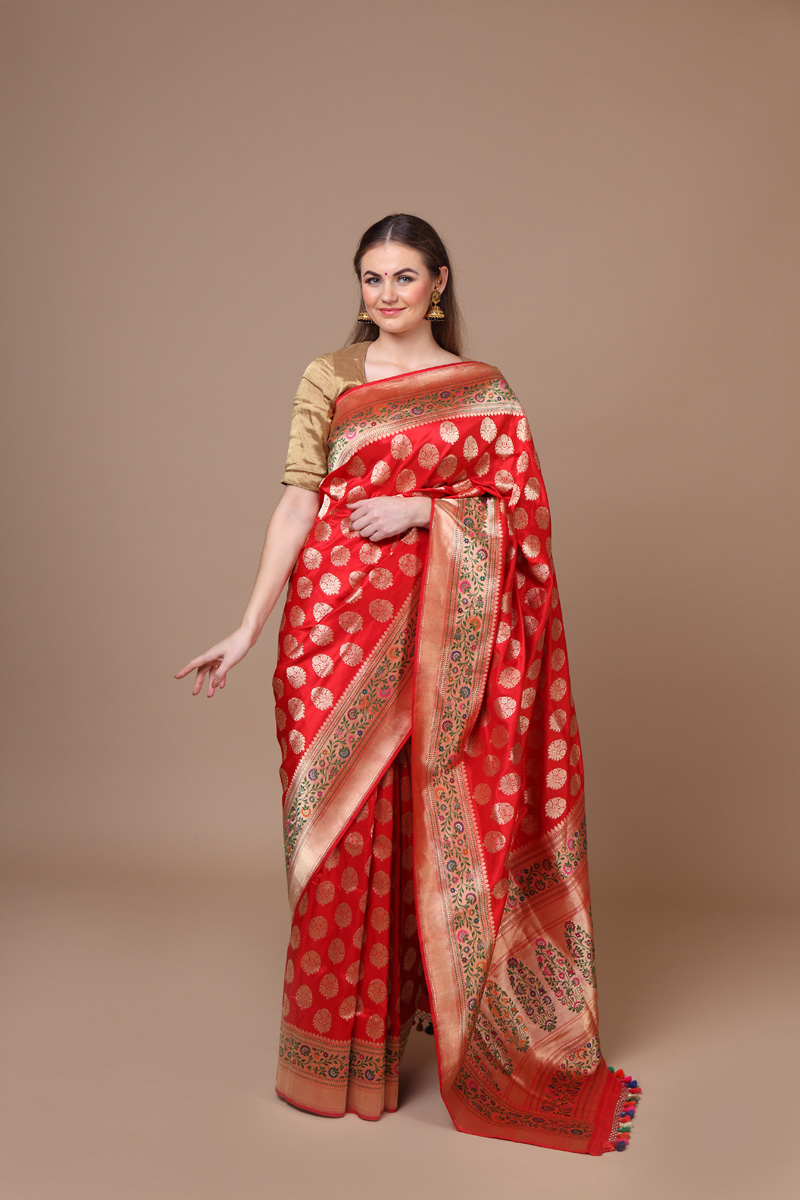 pure-hand-woven-benarasi-red-katan-silk-saree-with-all-over-kadhwa-meenakari-weave