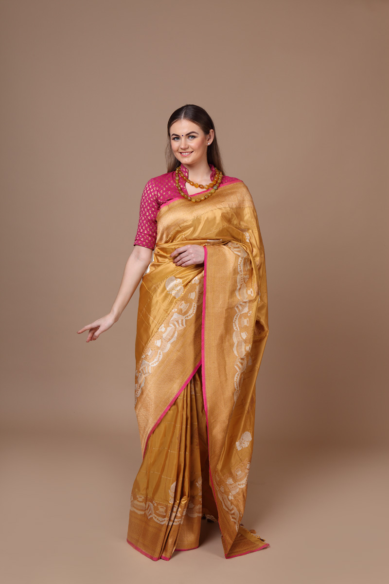 pure-hand-woven-benarasi-yellow-beige-katan-silk-saree-with-kadhwa-butis
