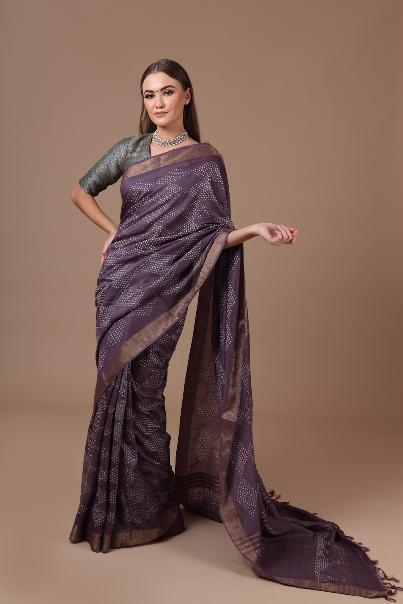 pure-hand-woven-muga-silk-purple-bandhej-saree