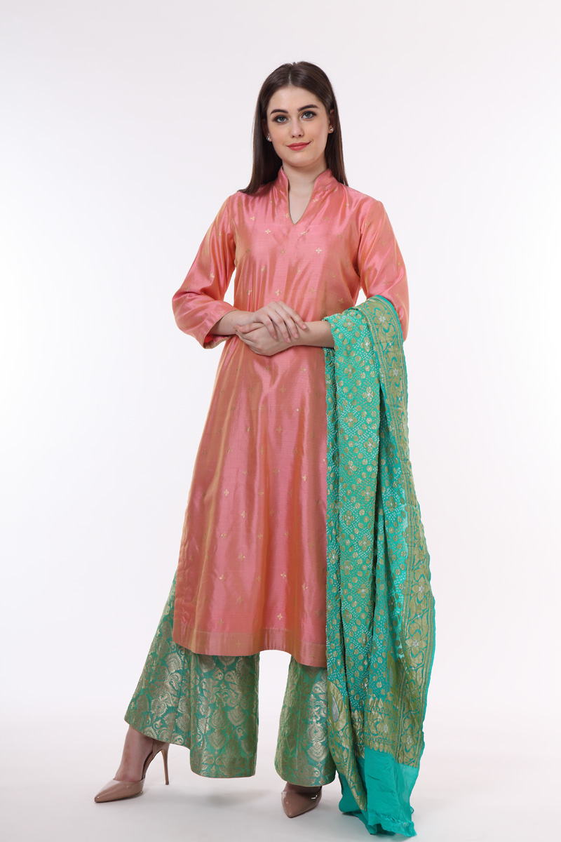 pure-hand-woven-green-brocade-kalidaar-sharara