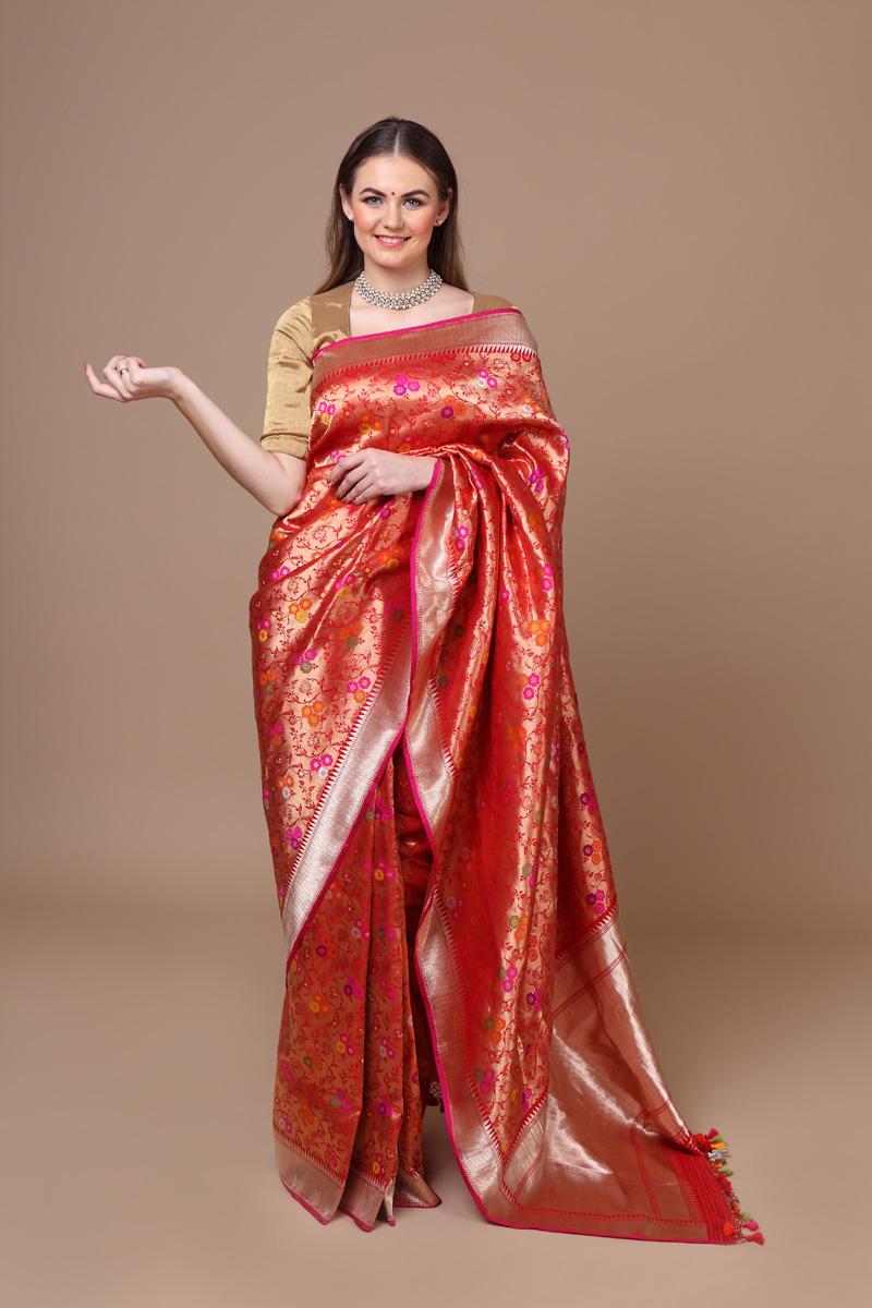 pure-hand-woven-benarasi-beige-gold-katan-silk-saree-with-meena-jangla
