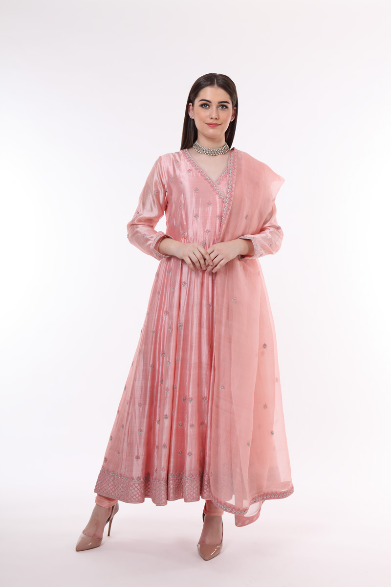 pure-hand-woven-pink-chanderi-silk-anarkali-suit-set