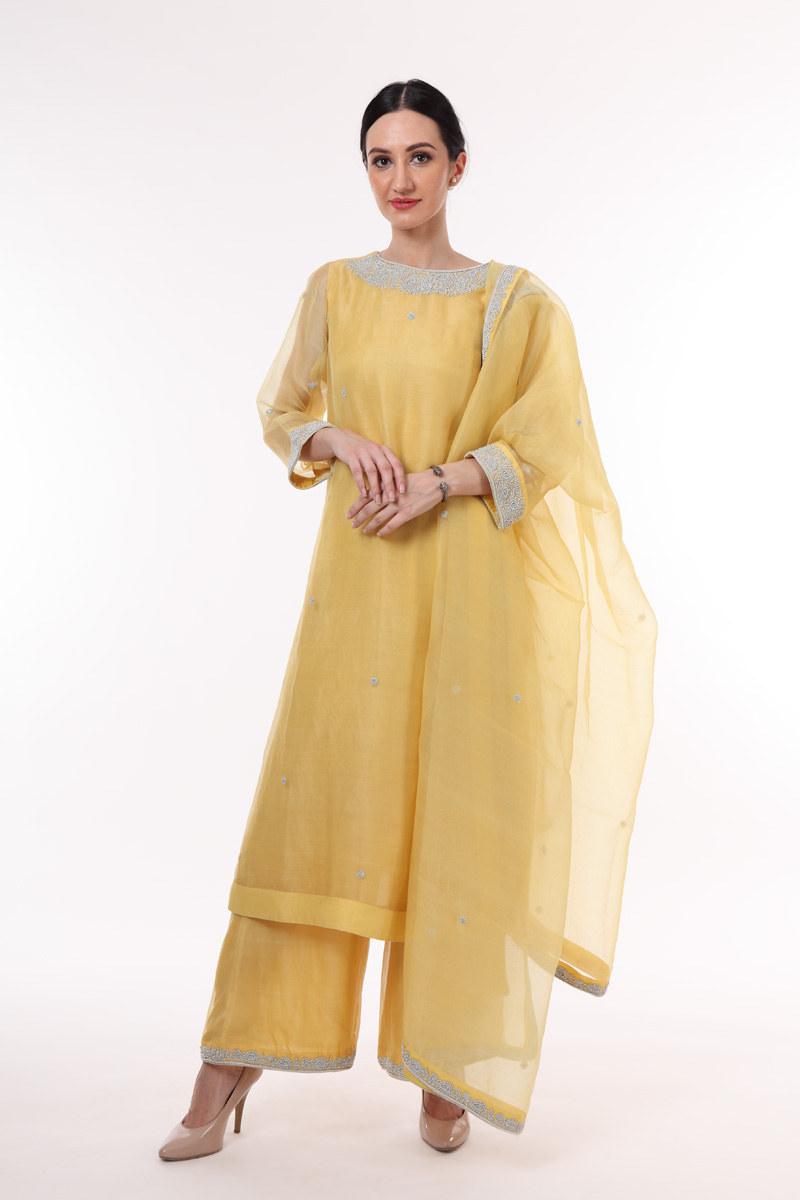 pure-hand-woven-light-yellow-chanderi-katan-silk-suit-set
