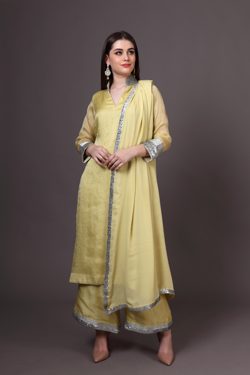 light-yellow-silk-organza-mukaish-suit-set