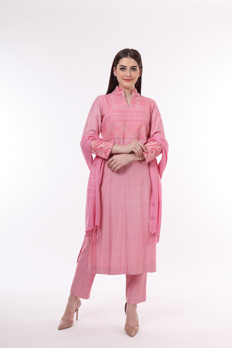 pure-hand-woven-pink-muga-georgette-suit-set