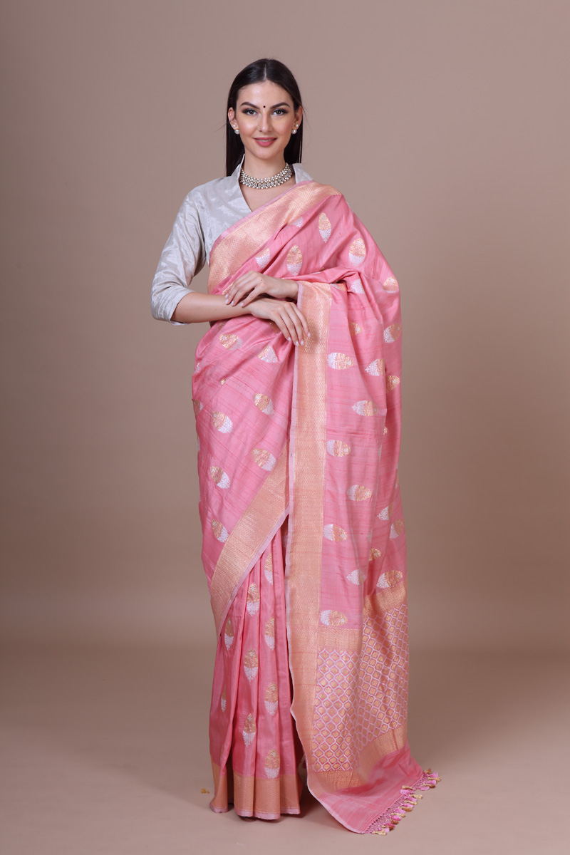 pure-hand-woven-benarasi-light-pink-tussar-silk-kadhwa-saree