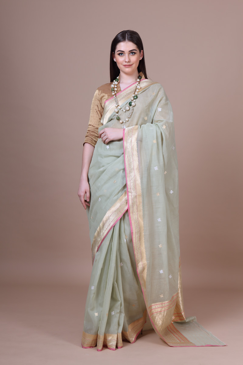 pure-hand-woven-benarasi-pastel-green-kadhwa-cotton-saree