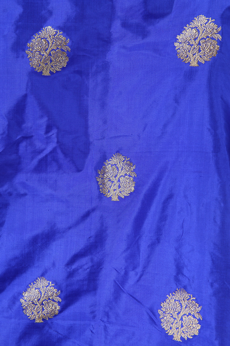 pure-hand-woven-benarasi-royal-blue-katan-silk-fabric-with-kadhwa-butis